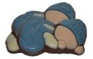 Melkchocolade baby blauw 60 stuks