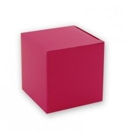 Doopsuiker kubus doosje fuchsia