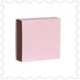 Doopsuiker schuifdoosje licht roze-bruin