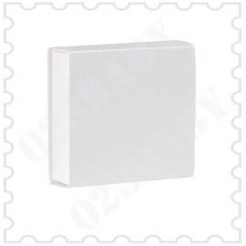 Doopsuiker schuifdoosje wit met canvasstructuur