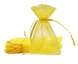 Organza zakjes geel