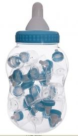 Papfles spaarpot gevuld met 30 kleine flesjes