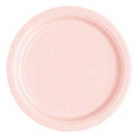 Bord karton roze 18cm  20 stuks
