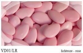 Chocolade dragee licht roze 0,5 kg