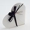 Wit glossy doosje hart (zonder strik)