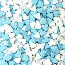 Vruchtenhartjes blauw-wit, 500 gram
