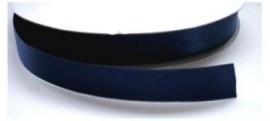 Satijnlint marine blauw 16mm per meter