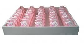 Kraambedankjes tasje roze met speen