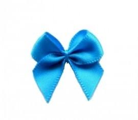 Strikje satijn blauw 24x24mm per stuk