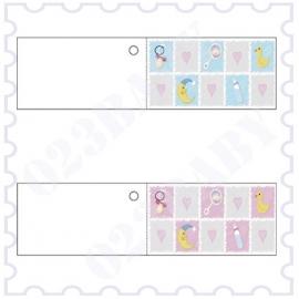 Minikaartje dubbel vierkantjes