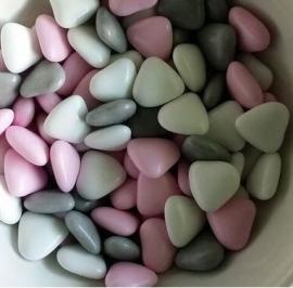 Chocolade dragee mix  hartjes roze 0,5 kg