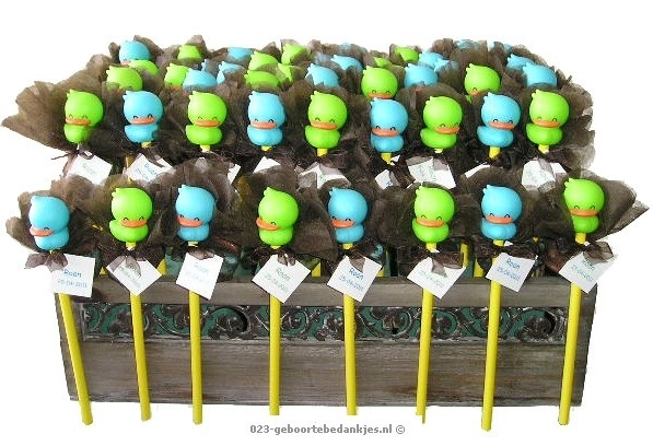 Kraambedankjes Happy Duck potlood
