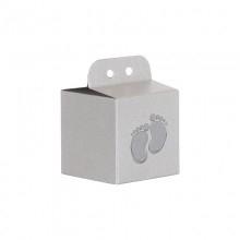 Doopsuiker kubus met zilver kleurige voetjes