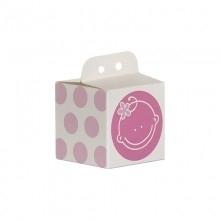 Doopsuiker kubus gezichtje roze
