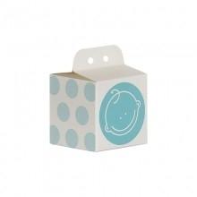 Doopsuiker kubus gezichtje blauw