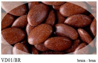 Chocolade dragee donker bruin 0,5 kg