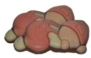 Melkchocolade baby roze 60 stuks