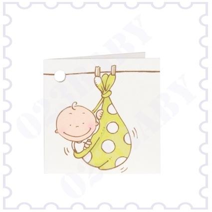 Naamkaartje dubbel baby in doek