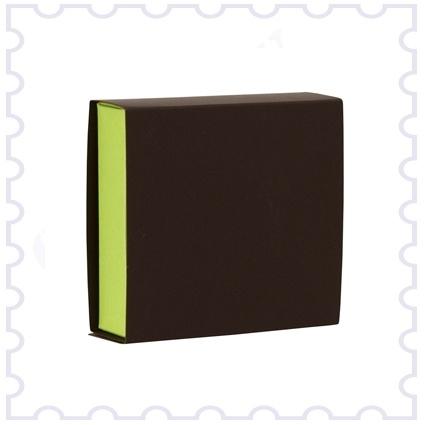Doopsuiker schuifdoosje bruin+licht groen