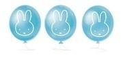 Geboorte decoratie Nijntje ballonnen blauw 6 stuks