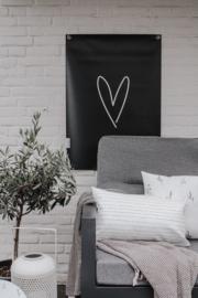 Tuinposter - Hartje - Zwart