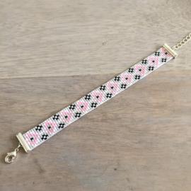 Armbandjes set Grey pink