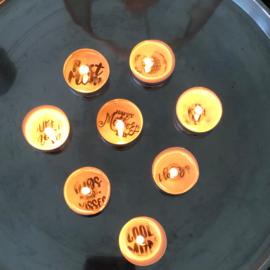 Waxinelichtjes met een boodschap.....moederdag