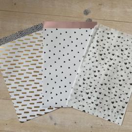 Hartjes Cadeauzakje 17x25 cm (per 5)