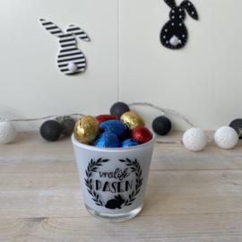 Vrolijk Pasen (waxine-) glaasje