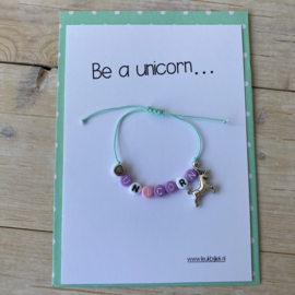Unicorn armbandje (kindermaat)