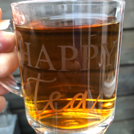 Happy tea theeglas