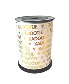 Cadeaulint Kadootje  - wit/goud