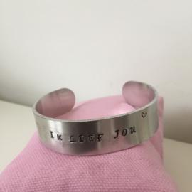 Armband 'Ik lief jou'