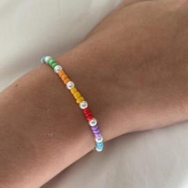 Armbandje Pearly rainbow, kids