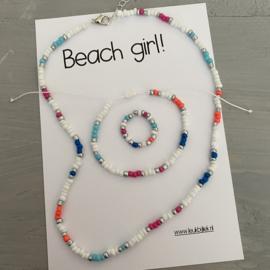 Set Beach girl Multi White