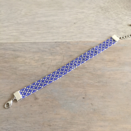 Beads-armbandje Blue sparkle