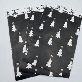 Tiny trees/hoho cadeauzakje 12 x 19 cm zwart (per 5)