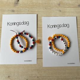 Koningsdag armbandjes, set