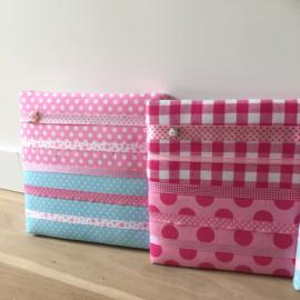 Haarspeldjesbord 30 x 30 cm roze/fuchsia