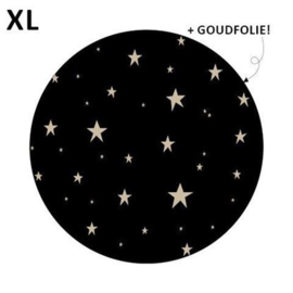 Sticker Little stars zwart/goud