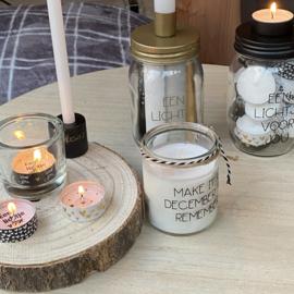 Kandelaar pot met kaarsen of waxinelichtjes
