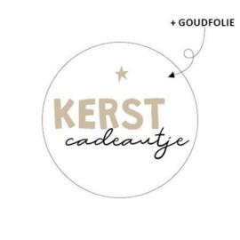 Sticker Kerstcadeautje - wit