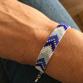 Beads-armbandje Silver blue