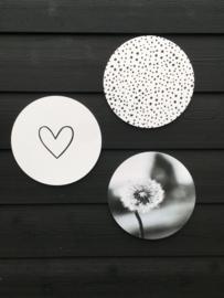 Muurcirkel dandelion - 30 cm