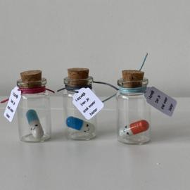 Happy pill met boodschap