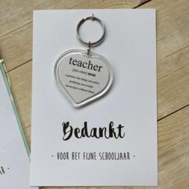 Sleutelhanger teacher