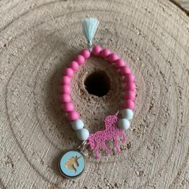 Unicorn/flamingo armbandje (kindermaat)