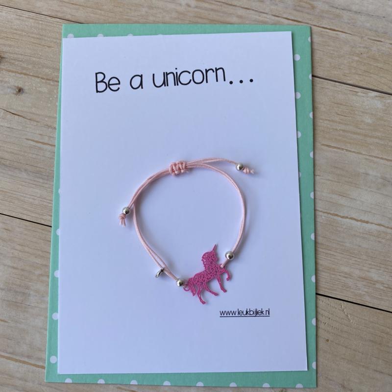 Unicorn armbandje (kindermaat)