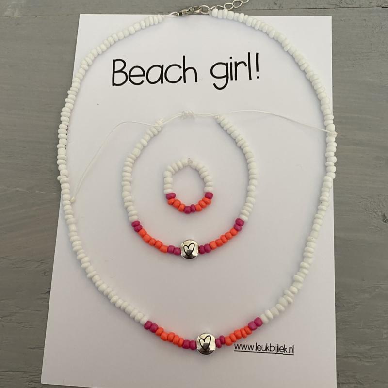 Set Beach girl Pinky Orange