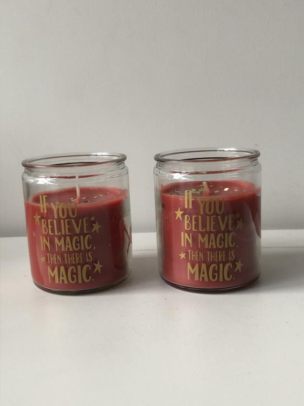 Kaars Believe in magic